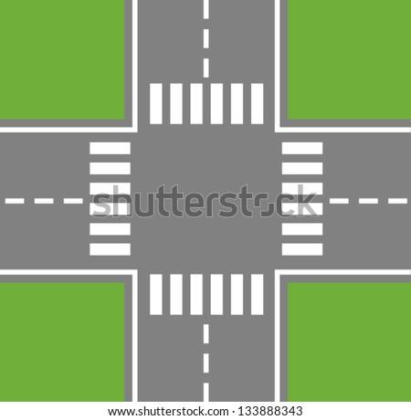 crossing roads  road