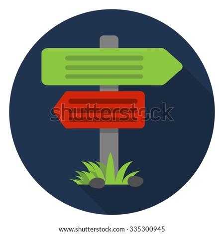 crossroad  direction, icon