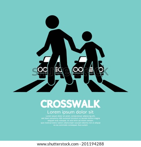 crosswalk graphic sign vector