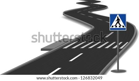 crosswalk stripes on road....