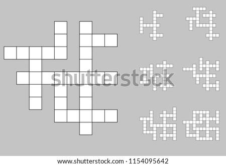 Crossword empty set . Cross word background vector Foto stock ©