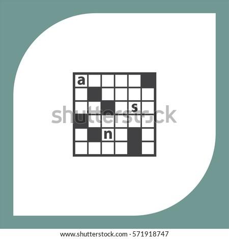 Crossword Puzzle vector icon. Leisure game symbol.