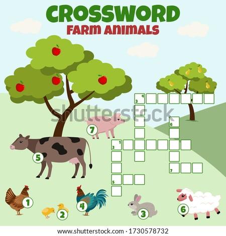 crossword with farm animals