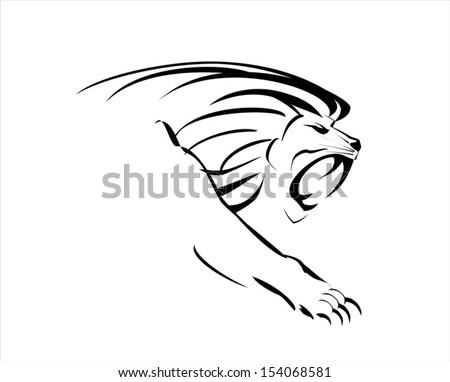 Vector Lion Rampant