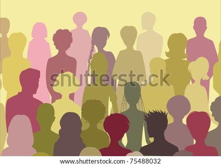 crowd - stock vector