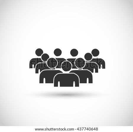 Crowd, audience icon vector