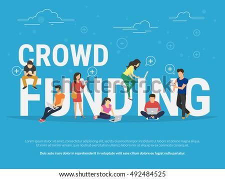 crowd funding illustration of