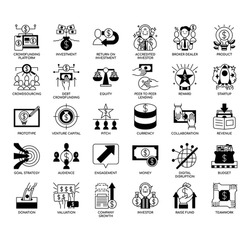 Crowd Funding , Thin Line and Pixel Perfect Icons