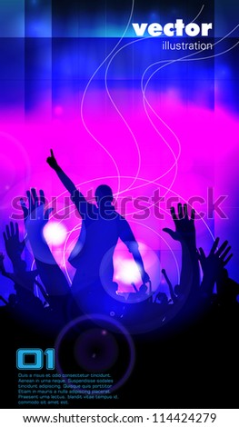 Crowd of people. Concert illustration