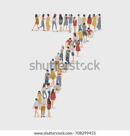 crowd of people in the shape of