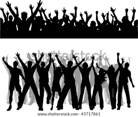 Crowd Silhouette Vector Crowd Silhouettes