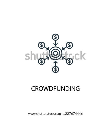 Crowdfunding concept line icon. Simple element illustration. Crowdfunding concept outline symbol design from Crowdfunding set. Can be used for web and mobile UI/UX