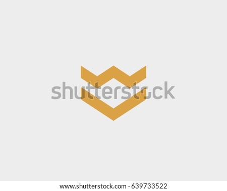 crown arrow shield premium logo