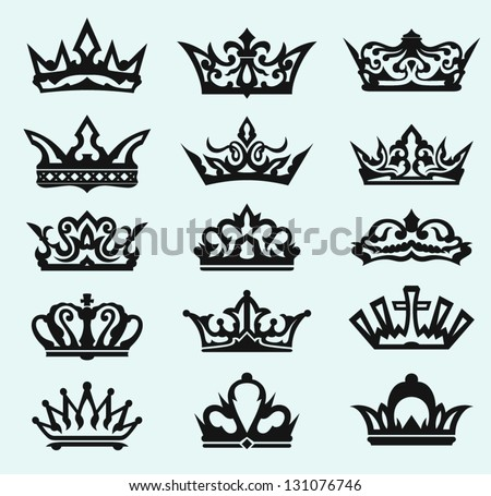 Crown collection. Vector