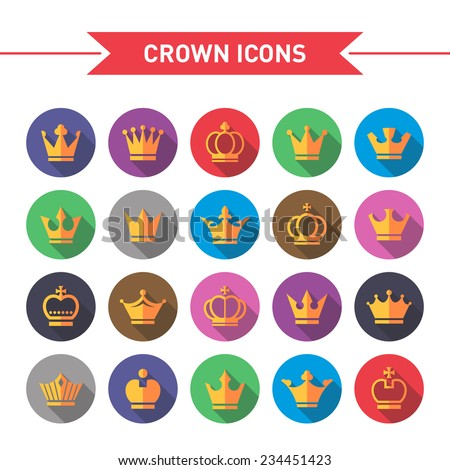 crown icons with shadow