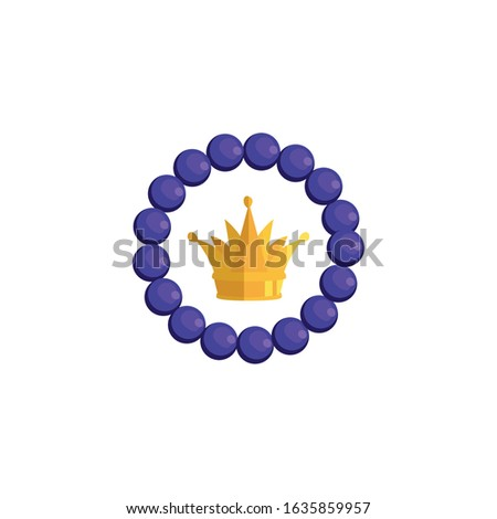 Crown inside bracelet design, Royal king queen luxury jewelry kingdom insignia emperor authority and coronation theme Vector illustration