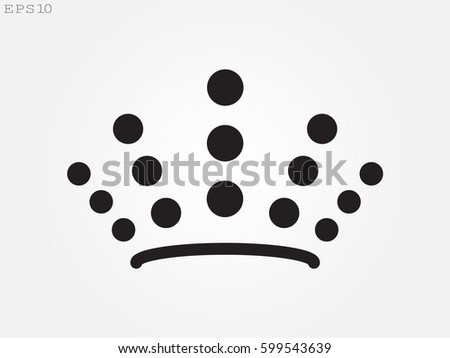 crown logo  icon  vector