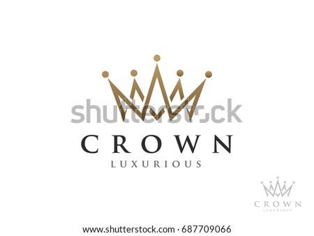 Crown Logo Vector Template
