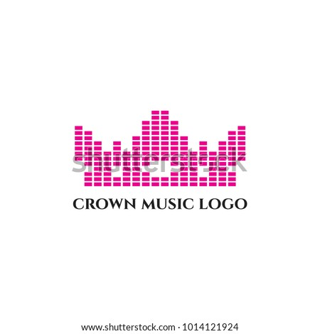 crown music and dj logo