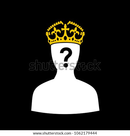 crown of king and and person
