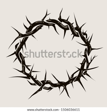 Crown of thorns graphic illustration. Vector religious symbol of Christianity Stockfoto ©