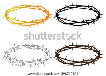 free vector crown of thorns download free vector art stock rh vecteezy com Crown of Thorns Outline Crown of Thorns and Nails