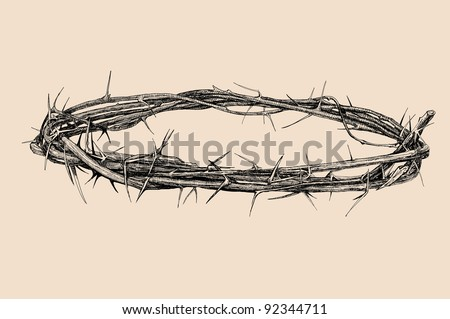 crown of thorns vintage illustration