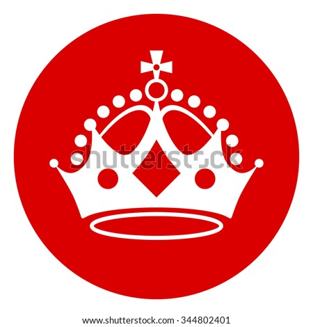 Crown on red background. Keep calm crown. Vector illustration.