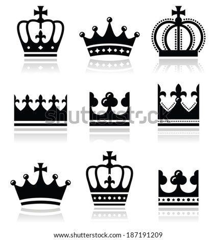 crown  royal family icons set