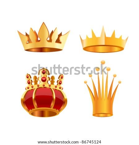 Crown set, eps10 - stock vector