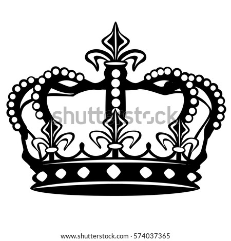 Crown Silhouette Clip Art Design Vector
