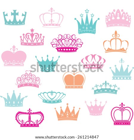 crown silhouette princess crown