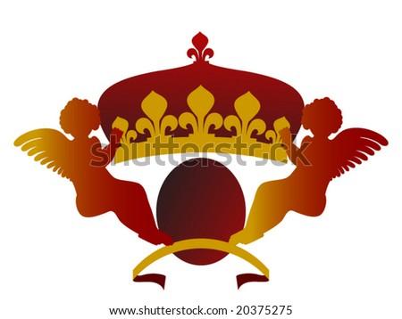 crown with cherubs