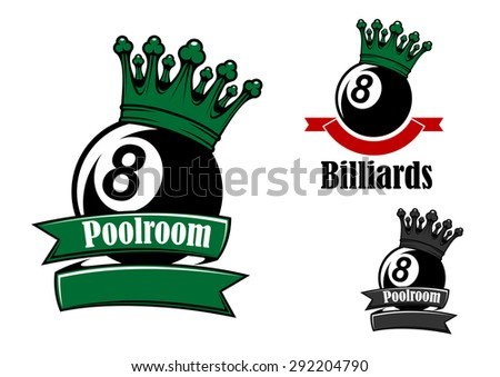 crowned black billiards or pool