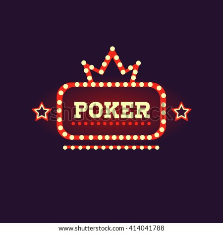 crowned poker neon sign las