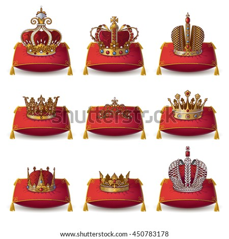 crowns of kings and queen
