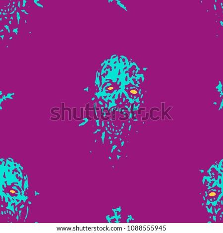 cruel monster head pattern