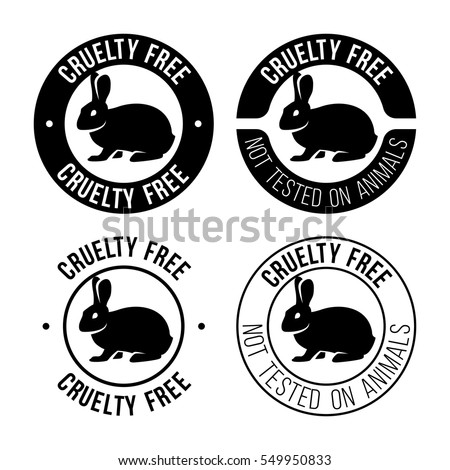 Cruelty free emblem. Not tested on animals sign. Vector illustration