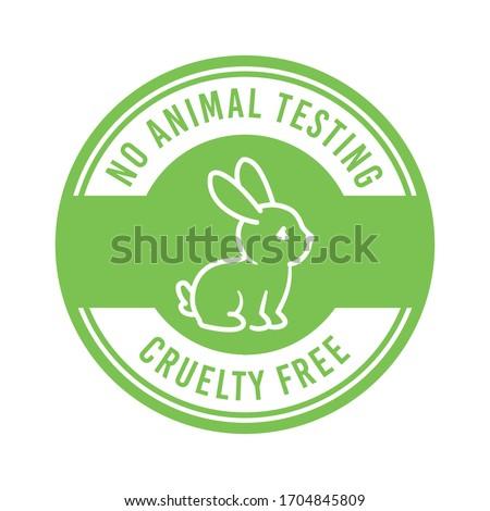 Cruelty free, no animal testing, animal rights vector label, badge Foto stock ©