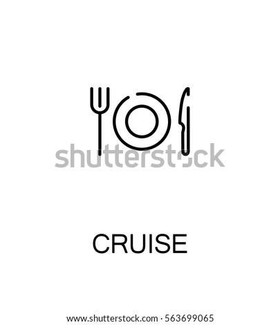 Cruise icon. Single high quality outline symbol for web design or mobile app. Thin line sign for design logo. Black outline pictogram on white background