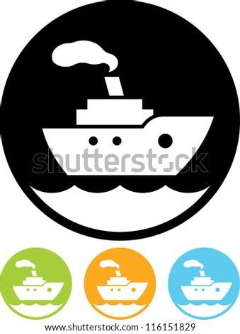 Cruise sea ship - Vector icon isolated