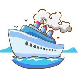 cruise ship clipart design