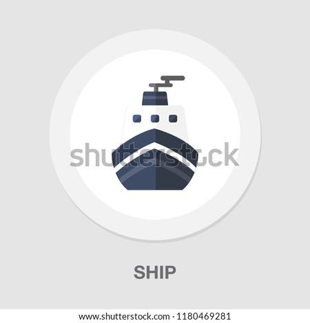 cruise ship icon - vector boat - sea travel icon