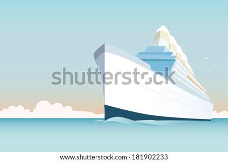 cruise ship vector illustration....