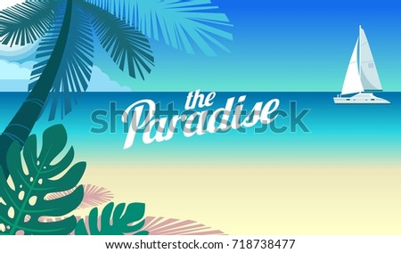 cruise yacht and a paradise in