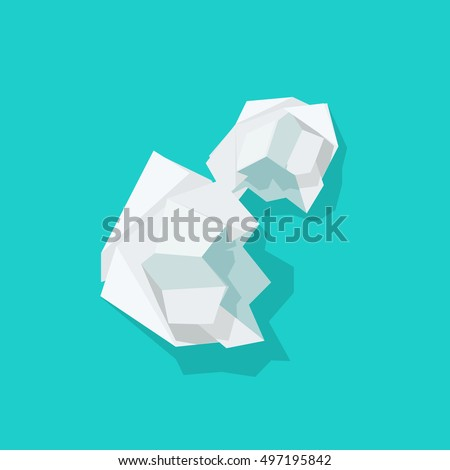 crumpled paper ball vector