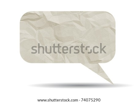 Crumpled paper bubble
