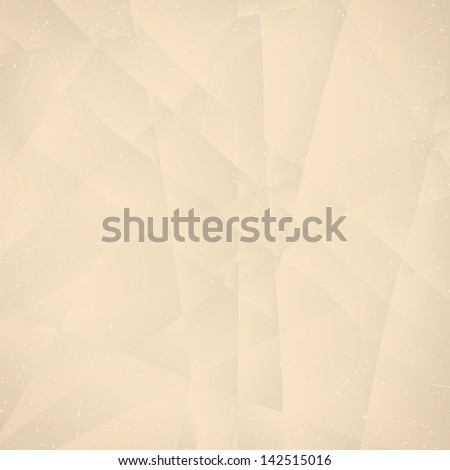 Crumpled paper retro background. Vector illustration