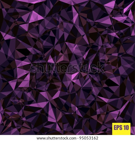 Crumpled violet foil. Vector format