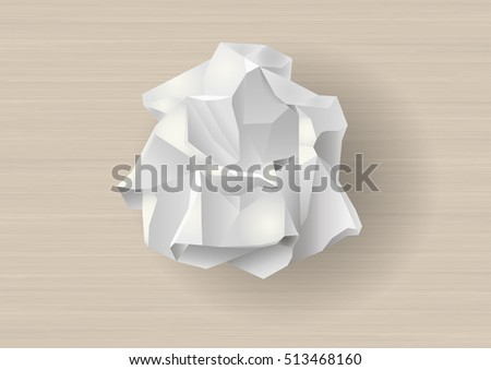 crumpled white paper template